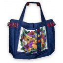 Rudbeckia Denim Tote Bag